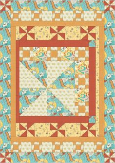 Free Projects | Play Date Quilt by @Tamarinis | Playground by Vita Mechachonis Collection for Camelot Fabrics