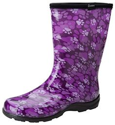 Sloggers Womens Synthetic Rain Comfort Shoe_Purple Paw_8SL5000 -- Want to know more, click on the image.