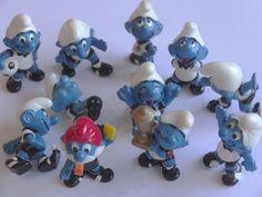 Ü Ei Figur Sammlung, Konvolut  die Fußballschlümpfe  1988 11 Figuren