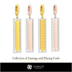 CAD Collection of Earrings with Playing Cards Cad Services, 3d Cad Models, Jewelry Collection, Playing Cards, Collections, Earrings, Ear Rings, Stud Earrings, Playing Card Games
