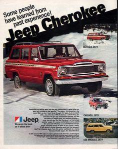 1980 Jeep Cherokee 4 wheel drive Bad Weather Wagon by Vividiom, $9.00
