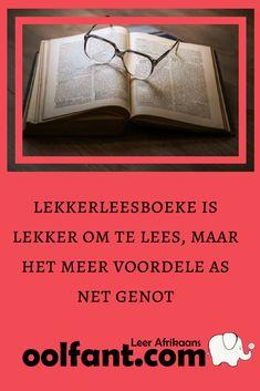 Lekkerleesboeke is dikwels die poort waardeur trae lesers by moeiliker boeke kan uitkom. Afrikaans, Hoe, Homeschooling, Einstein, Words, Compliments, Horse, Homeschool