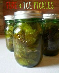 """Fire and Ice Pickles Recipe! These easy and delicious pickles don't require any. - Fire and Ice Pickles Recipe! These easy and delicious pickles don't require any """"real"""" pickl - Koolaid Pickles, Spicy Pickles, Canning Pickles, Homemade Pickles, Canning Jars, Canning Recipes, Pickles Recipe, Canning 101, Sweet Pickles"""