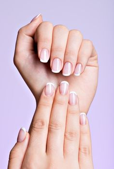 nail tips ideas Shades White French Nails, Hand Pose, Nail Set, Beautiful Long Hair, Nail Tips, Toe Nails, Summer Nails, You Nailed It, Pedicure