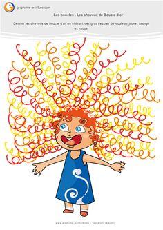 Graphisme MS Les boucles : Les cheveux de boucle d'or fini