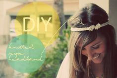 These are all over the place this season. Its so nostalgic! Just B Twisted: DIY double knotted rope headband