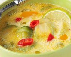 Soupe pimentée aux choux de Bruxelles