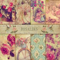 Edwardian Summer. Digital Paper Pack 85x11 inch by rosaliks, $5.00
