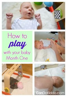 How to play with your one month old. Newborn play activities to promote cognitive, sensory and motor development.