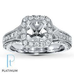 Jared's Jewelry Diamond Ring Setting 1/2 ct tw Round-cut Platinum