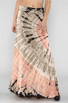 PINK/GREY DIP DYE TIE DYE SKIRT...95% RAYON 5% SPANDEX...MADE IN THE USA.and grey skirt