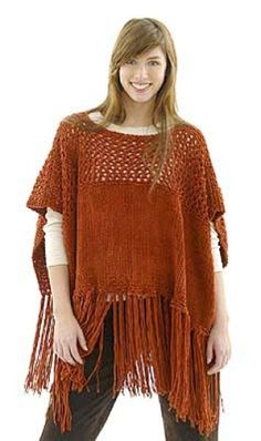 Lacy Suede Poncho: this is a real possibility