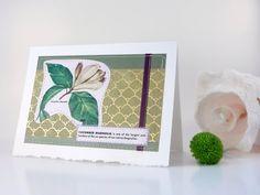 Cucumber Magnolia  handmade sewn card by bluestemhandmade on Etsy, $5.00