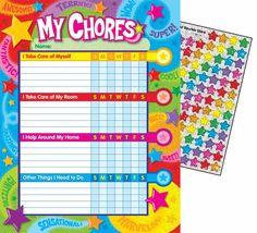 Praise Words 'n' Stars Progress Reward Chore Chart - Sticker Stocker - [T73130] - 5.49