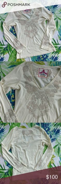 Johnny Was | Ivory Embroidered Long Sleeve Top No flaws. Buttery soft!!! Size medium. Johnny Was Tops