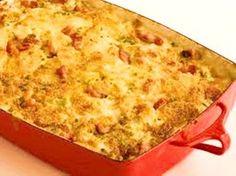"""Jy het nodig: Ongeveer 1 Koolkop, Grof Gekerf 1 medium grootte ui, gekap 1 aartappel in plat ronde dik skywe gesny pakkie Spek in stukke """"cocktail"""" kaasworsies Pakkie """"Potato Bake…"""
