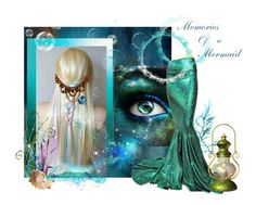 """""""Memories of a mermaid"""" by glitterlady4 ❤ liked on Polyvore featuring art"""