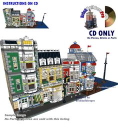 CD Port Seaside, modular Instructions  PDF Custom Lego 10218 city cafe corner #LEGO