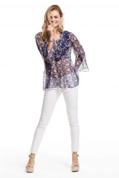 Barosa Embroidered Silk Blouse