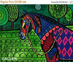 50% Off- The Jessie Rose Horse Art Poster Print of painting by Heather Galler (HG72215)