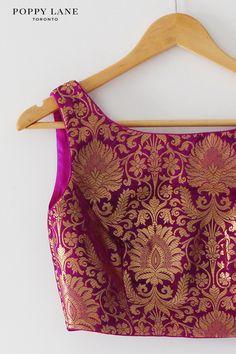 Brocade Blouse Designs, Saree Blouse Designs, Blouse Styles, Brocade Blouses, Blouse Patterns, Indian Wedding Outfits, Indian Outfits, Indian Clothes, Indian Attire