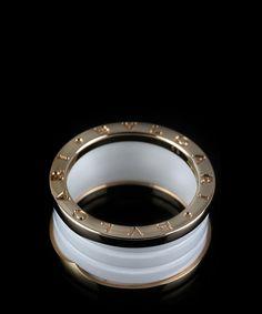 bzero1 ring in 18kt pink gold with black ceramic bvlgari pinterest ceramics enough said and bulgari jewelry