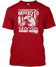 Mens Red Friday Military Shirts For Men Deep Red T-Shirt Front