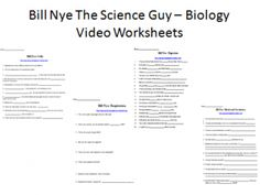 Bill Nye Video Worksheets (FOUR) - Biology - Cells and Body Systems. Here is a collection of Bill Nye The Science Guy Biology Video Worksheets complete with a YouTube video link for each video. There are worksheets for the following Bill Nye Videos. - Digestion - Blood and Circulation - Respiratory System - Cells Please view the sample.