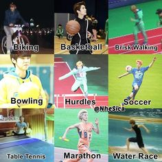 because Luhan looks so manly when he's doing sports ...