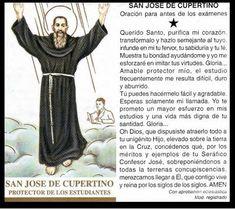 Rincón de la Oración: Estampas Oraciones de San José de Cupertino