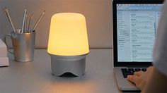 Geni Smart Beacon with Bluetooth Speaker, LED Lamp, USB Ports and More