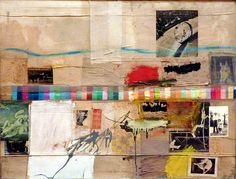Robert Rauschenberg....I'm about to do something inspired by him...we'll see how it compares haha