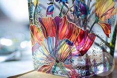Купить или заказать Ваза 'Полевые цветы' в интернет-магазине на Ярмарке Мастеров. Декоративная роспись 'Полевые цветы'. Ваза с изображением летних полевых цветов украсит Ваш интерьер. В работе использованы профессиональные краски по стеклу и керамике .