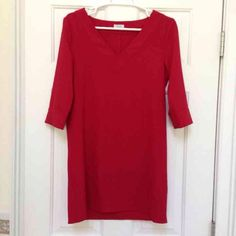 BNWOT Red Talk Shop Shift Dress from Tobi Never worn, cute style in discontinued color Tobi Dresses Mini