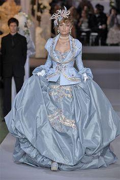 Baroque 18th century rococo inspired Christian Dior