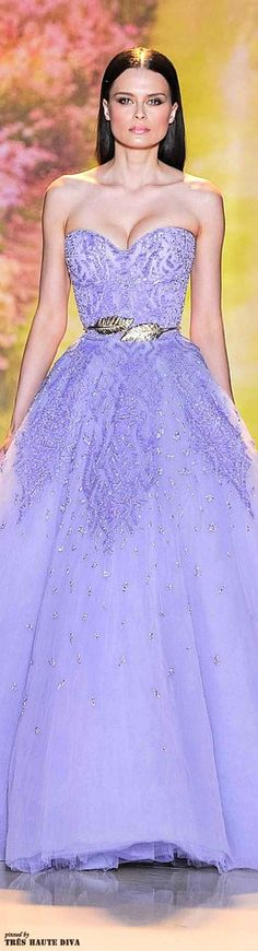 Weddbook is a content discovery engine mostly specialized on wedding concept. You can collect images, videos or articles you discovered  organize them, add your own ideas to your collections and share with other people - Zuhair Murad Spring 2014 Couture lavender #lavender