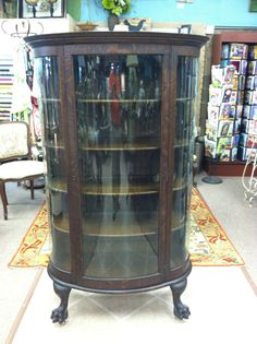 antique china cabinets | Curved Oak Empire? China Cabinet ...