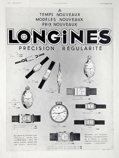 Longines watches vintage advertising poster Longines