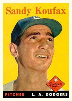 1958 Topps #187 Sandy Koufax Front