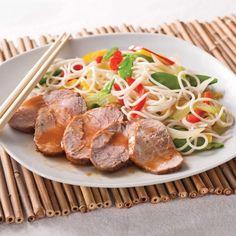 Filets de porc gingembre-érable sur nouilles chinoises - Recettes - Cuisine et nutrition - Pratico Pratiques