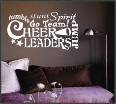 Vinyl Wall Lettering Words Quotes Decals Art Collage Cheerleader. $13.00, via Etsy.