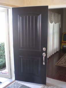 1000 images about black doors on pinterest black for Black french doors exterior