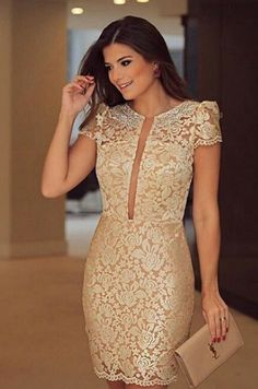 The customized wedding dresses can be designed for the wedding couple in how they would like it to be. Pretty Short Dresses, Elegant Dresses, Cute Dresses, Beautiful Dresses, Casual Dresses, Fashion Dresses, Formal Dresses, Wedding Dresses, Classy Wear