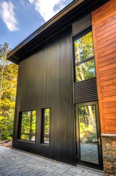 Fen tre architecturale en aluminium moderne on pinterest for Fenetre un seul battant