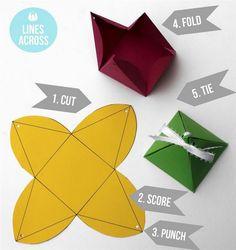 DIY 3D Triangular Gift Boxes 1 - https://www.facebook.com/diplyofficial