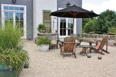 gravel pad in place of deck for the love of a house: renovation photo-story: the terrace