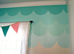 ombre scalloped wall painted wall inspiration
