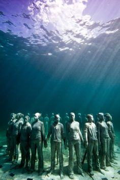 Underwater sculptures. GRENADA