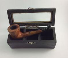 "#Original #Vintage #Tobacco #Smoking #Pipe #Teak #tree ""#Angelo"" #Italy in #special #wooden #case #box. #Smoked. #Wood #Pipes in special wooden box. #Very #good by #JustSweetHoney #etsy #etsygift #giftforhim #giftformen #giftfordad #giftforfother #smoking #cigarettes #tobaccocase #smokeraccessories #original #Collectibles #Tobacciana #Angelo  #Italy #giftidea"