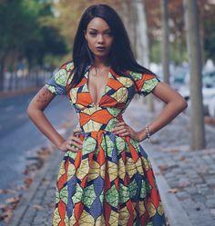 Ankara Dress The Casablanca African Prints Dress Cocktail Visitez votre boutique African Inspired Fashion, African Print Fashion, Africa Fashion, African Print Dresses, African Fashion Dresses, African Dress, African Prints, African Attire, African Wear